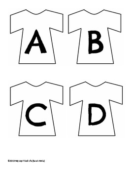 Laundry Letters - A Letter Recognition Activity