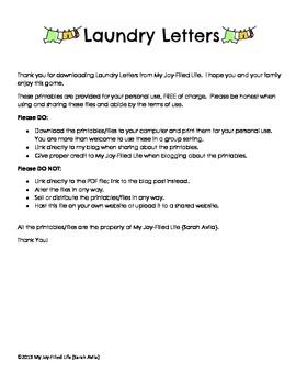 Laundry Letters - A Letter Recognition Activity