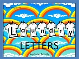 #backtoschool Preprinted on Cardstock Laundry Letters Alph