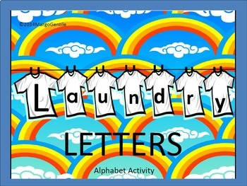 Preprinted on Cardstock Laundry Letters Alphabet Activity
