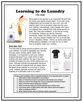 Life Skills - Independent Living Skills - LAUNDRY