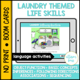 Laundry Life Skills BOOM Cards™️ Speech Therapy Distance Learning
