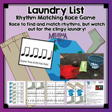 Laundry List: Rhythm Matching Race! Quarter Notes & 8th Note Pairs