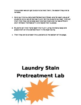 Laundry Pretreatment Lab
