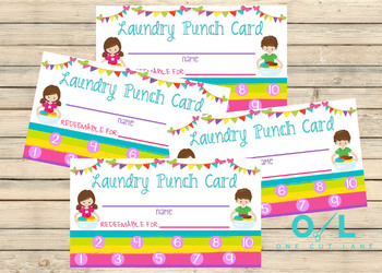Laundry Punch Card