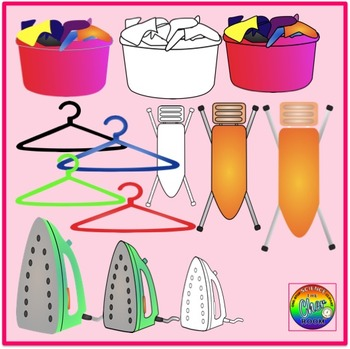 Laundry Room Clipart (My Home Series 2)