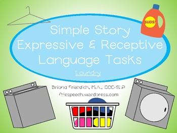 Laundry Simple Story Expressive and Receptive Language Tasks