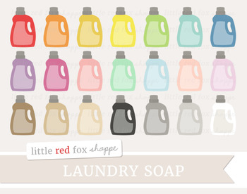 Laundry Soap Clipart; Cleaning, Detergent, Supplies