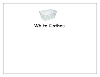 Laundry Sorting Activity for Autism Life Skills