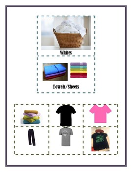 Laundry Sorting Task Cards