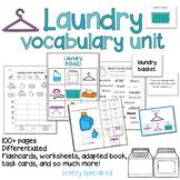 Laundry Vocab Unit for Special Education