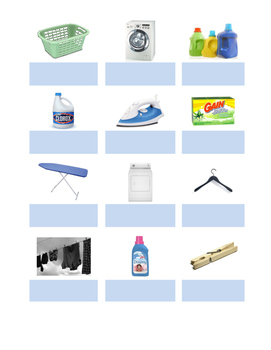Laundry Vocabulary Matching Activity