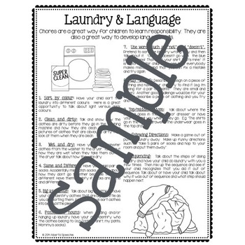 Laundry and Language: Using laundry to help foster language skills