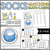 Laundry and Socks Matching Mats and Activity Cards (Patterns, Colors, and Match)