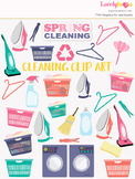 Laundry cleaning chores clipart, home cleaner clip art (LC26)