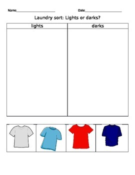 Laundry sort : lights or darks