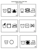DIFFERENTIATED REVIEW GAME & FLASH CARDS- Laundry/Garment/Textiles Care Symbols