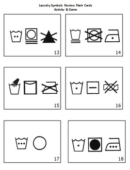 DIFFERENTIATED REVIEW GAME & FLASH CARDS- Laundry/Garment/