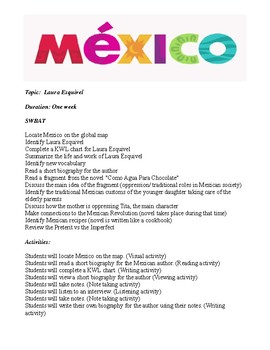 Laura Esquivel lesson plan