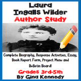 Laura Ingalls Wilder Author Study, Biography, Reading Response & Projects