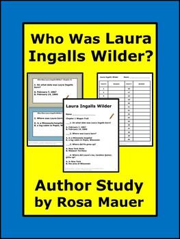 Laura Ingalls Wilder Author Study Task Cards