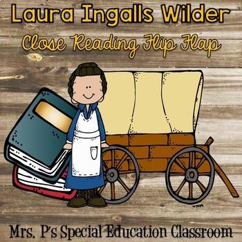 Laura Ingalls Wilder Close Reading Flip Flap