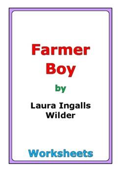 "Laura Ingalls Wilder ""Farmer Boy"" worksheets"