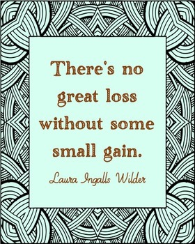 Laura Ingalls Wilder Inspirational Quote Poster, Library Art