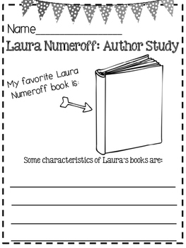 Laura Numeroff Author Study and Activities