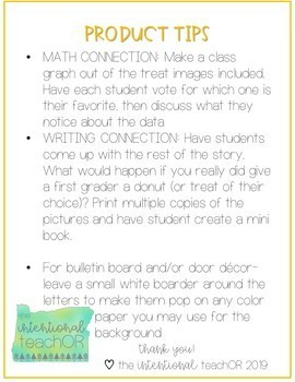 Laura Numeroff Door Decor or Bulletin Board with Academic Extensions- Kinder