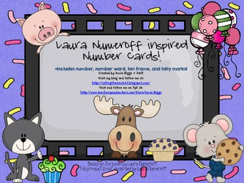 Laura Numeroff Inspired Number Cards
