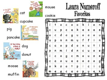 Laura Numeroff Word Search with Pictures
