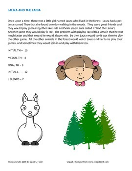 Laura and the Lama -- a story for articulation practice