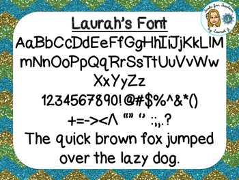 Laurah's Font {True Type Font for personal and commercial use}