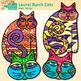 Laurel Burch Cat Clip Art {Fantastic Felines Folk Art for Art History Resources}