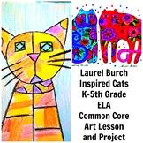 Laurel Burch Cats Art Lesson Contemporary Grade K-5 Painting Lesson Common Core