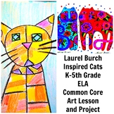 Laurel Burch Cats Art Lesson Contemporary Grade K-5 Painti