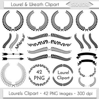 Laurel Clipart Wreath Clipart Laurels Clip Art Laurel Silhouette