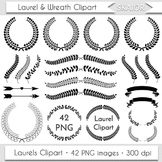 Laurel Clipart Wreath Clipart Laurels Clip Art Laurel Silhouette