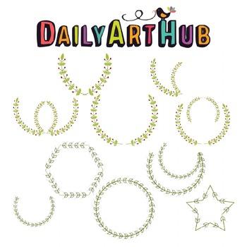 Laurel Wreath Clip Art - Great for Art Class Projects!