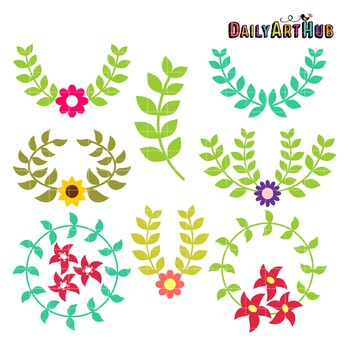Laurels Clip Art - Great for Art Class Projects!