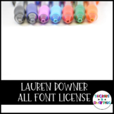 Lauren Downer Fonts- ALL Font License