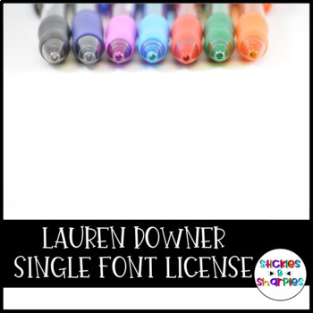 Lauren Downer Fonts- SINGLE LICENSE