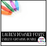 Lauren Downer Fonts the Endless Growing Bundle