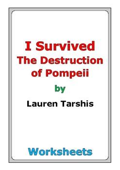 """Lauren Tarshis """"I Survived the Destruction of Pompeii"""" worksheets"""