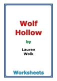 """Lauren Wolk """"Wolf Hollow"""" worksheets"""