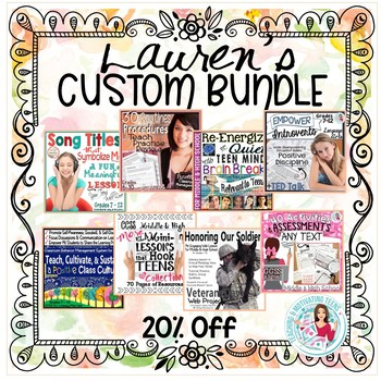 Lauren's Custom Bundle of Lessons for English Language Arts Middle and High