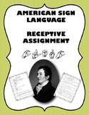 Laurent Clerc Receptive Assignment - American Sign Language - ASL