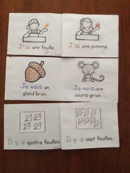 L'automne:  Autumn (Fall) Themed Emergent Readers in French - 3 mini-books