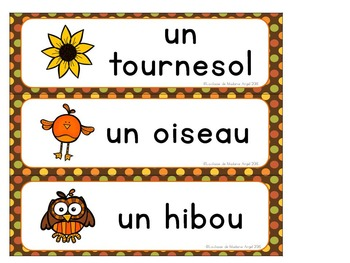 Automne:  Autumn (Fall) Themed Literacy Activities in French